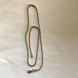 "15"" Sterling silver bead chain"